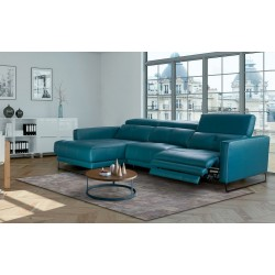 Chaise Longue Piel con 1 relax motor (2º opcional) Ref.Isa 245